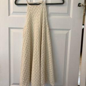 Off white patterned swing dress
